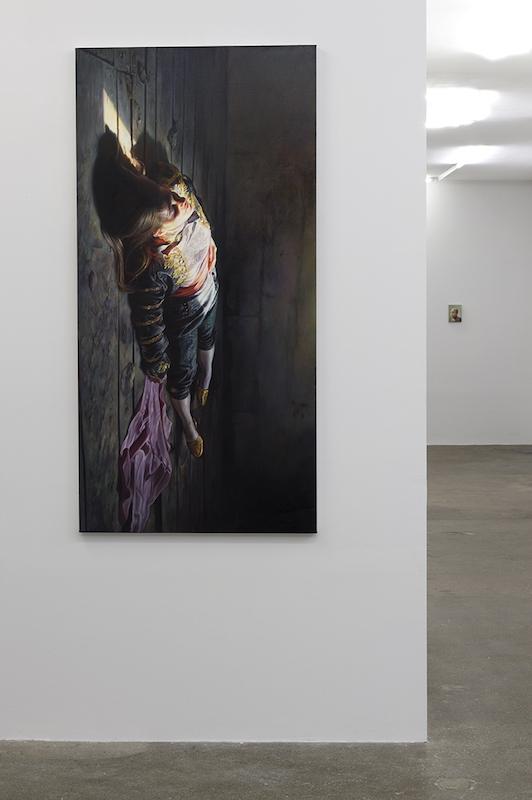 Vue de l'exposition personnelle Peindre dans tes yeux d'Axel Pahlavi - Galerie Eva Hober Paris. Photo : Marc Domage