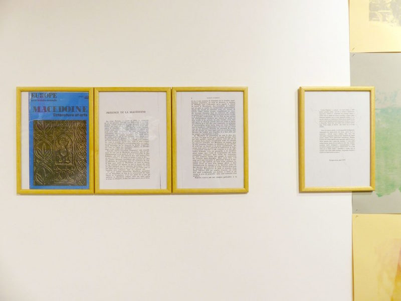 1978-2011. Ce travail intitulé 1978-2011 est composé de 3 photocopies, extraits d'un vieille revue littéraire française appelée Europe datant de 1978.
