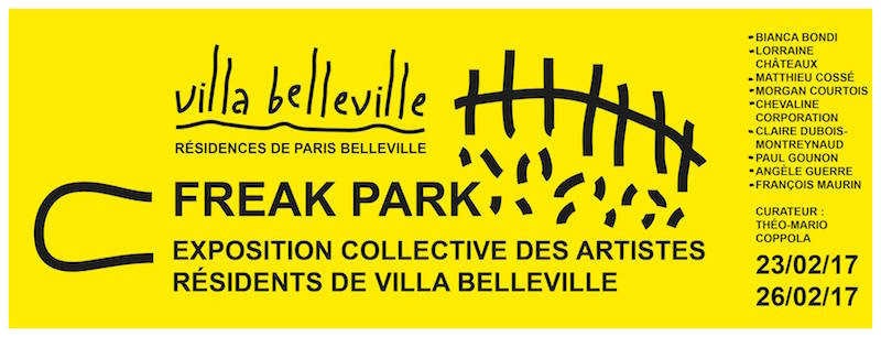 [AGENDA] 23→26.02 – FREAK PARK – exposition collective des artistes résidents de Villa Belleville – Résidences Paris Belleville