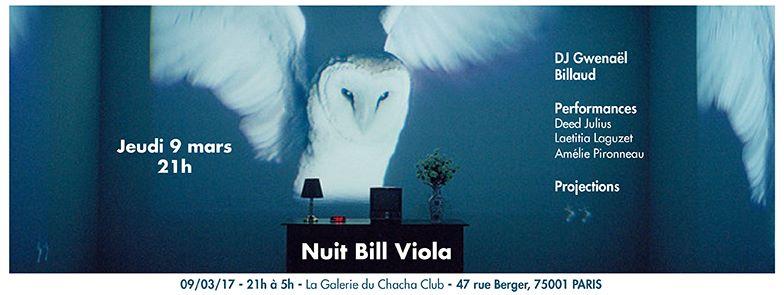 [AGENDA] 09.03 – Nuit Bill Viola – Galerie du Chacha Paris