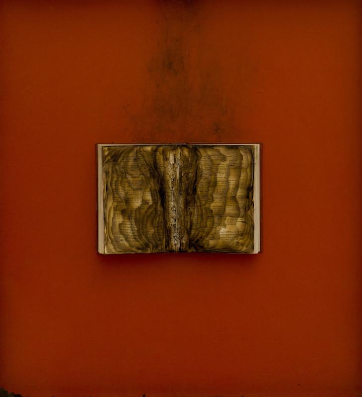 Bernard Aubertin, Livre brûlé, 1974 -ABC ARTE