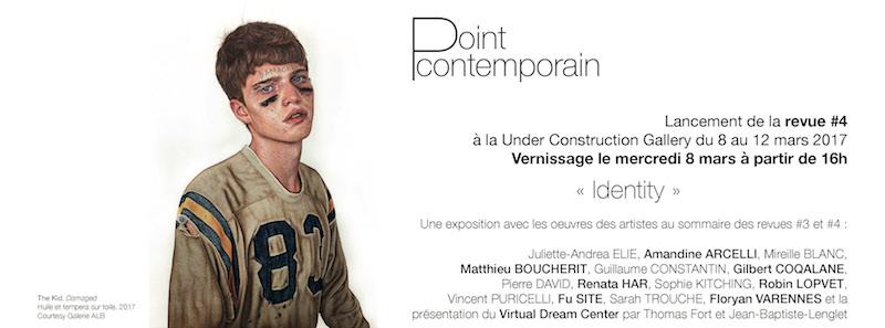 [AGENDA] 08→12.03 – Identity – Exposition-Lancement de la Revue Point contemporain #4