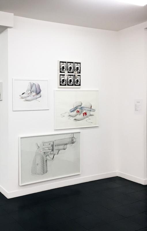 Malachi Farrel - Vue d'exposition Dessins perturbateurs - Galerie Metropolis Paris