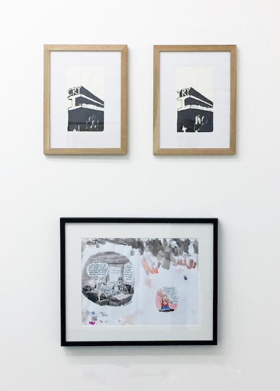 Dae Jin Choi - Vuillemin - Vue d'exposition Dessins perturbateurs - Galerie Metropolis Paris