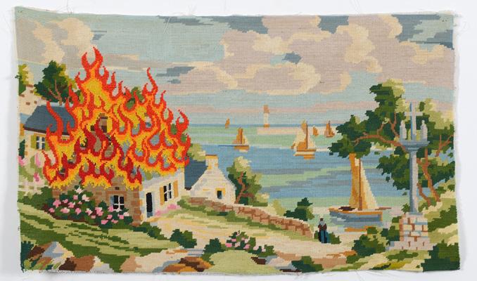 Breizh Point de croix sur canevas, 70 x 40 cm, 2014