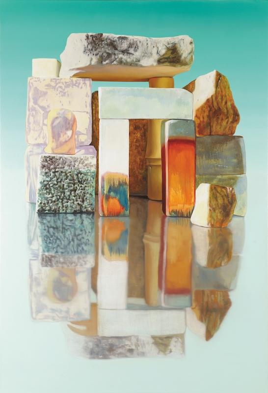 Attique, 2015. Huile sur toile, 190 x 130 cm. Photo : Aurélien Mole. Courtesy Galerie Isabelle Gounod.