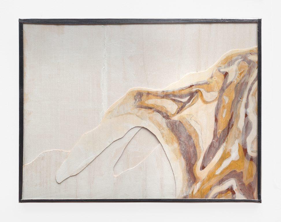 Frédérique Lucien, Petite cartographie 2017, bois, verre, plomb, 18,5 x 24,5 cm