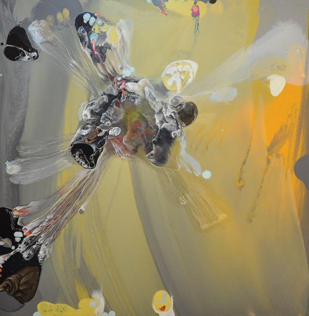 Anis – 2016 Huile sur toile, 195 x 195 cm.
