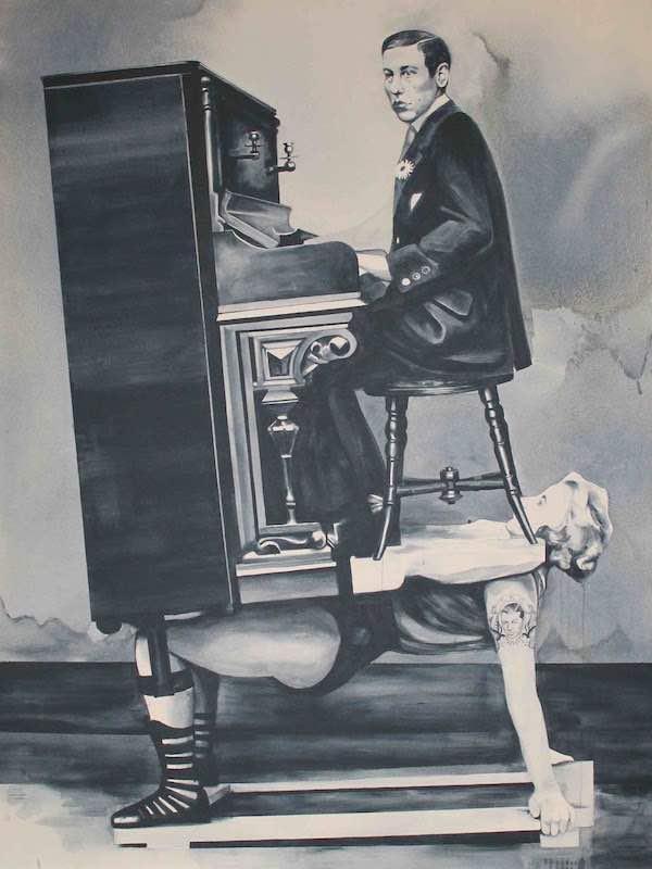 Giulia Andreani Damnatio Memoriae II, 2015, acrylique sur toile, 150 x 200 cm