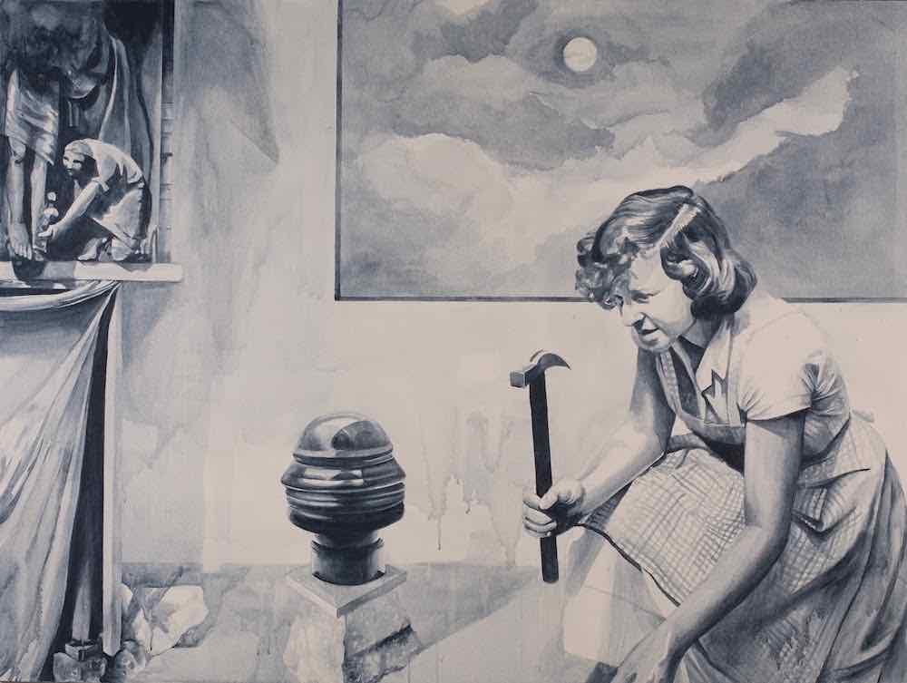 Giulia Andreani Damnatio Memoriae III, 2015, acrylique sur toile, 150 x 200 cm