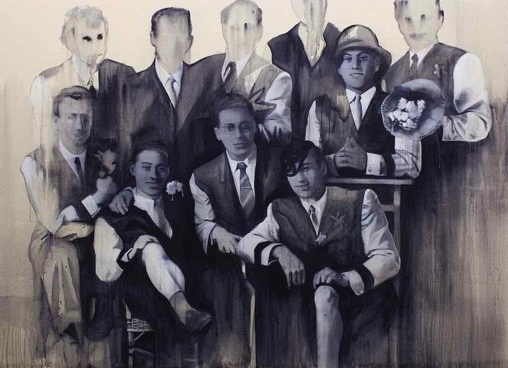 Giulia Andreani Eduardo Cosimo Cammilleri (enterrement de vie de garçon), 2013, acrylique sur toile, 200 x 145 cm