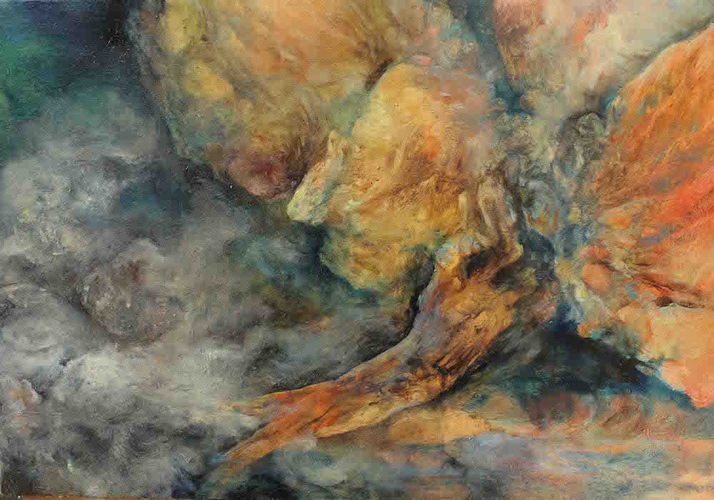Faille, huile sur toile, 46 x 56 cm, 2017