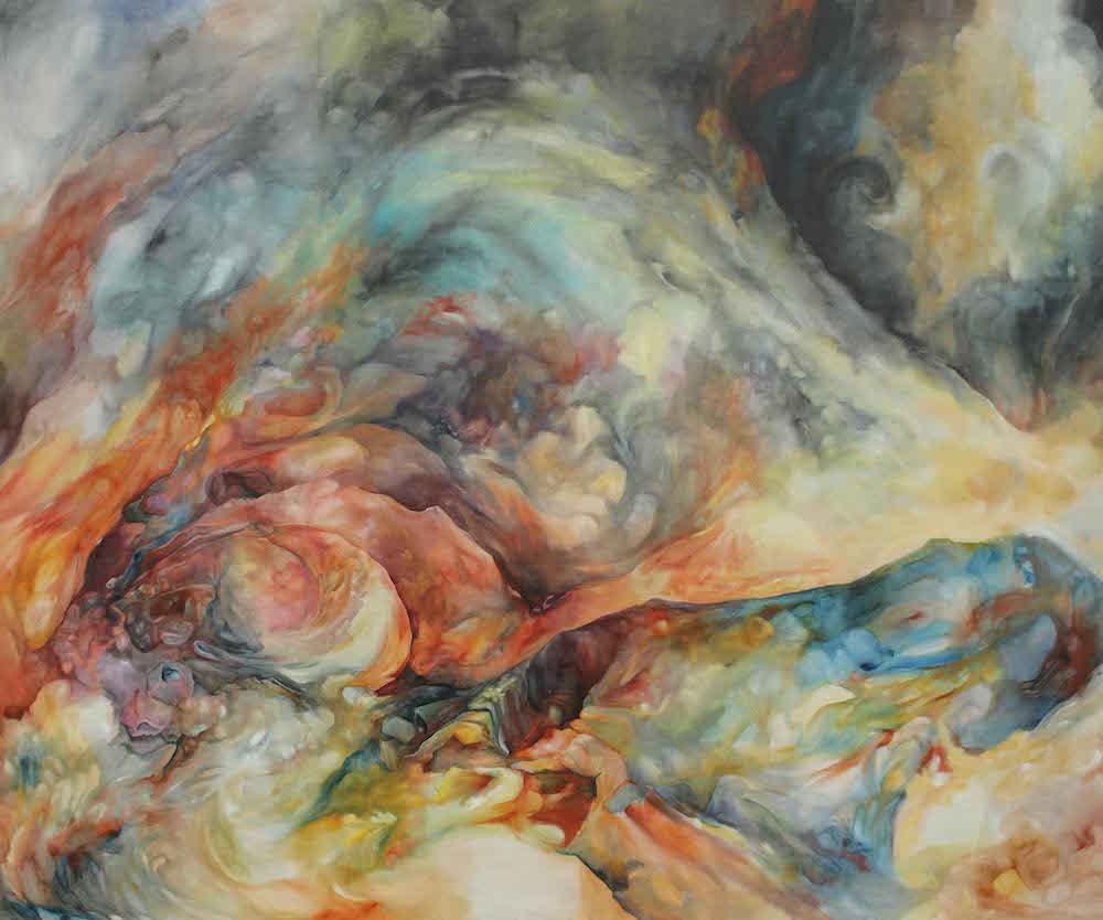 Émilie Sévère Topos 2, huile sur toile, 240 x 200 cm, 2016