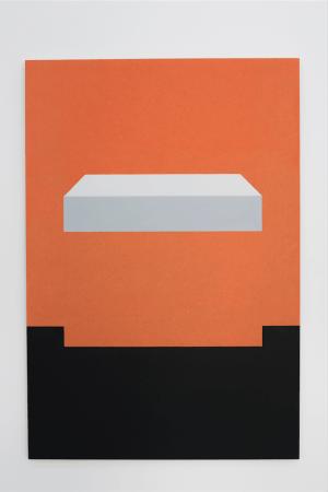 Dos au mur, 2017. Vue de l'exposition Peinture Sculpture Peinture - Elodie Seguin - Galerie Jocelyn Wolff