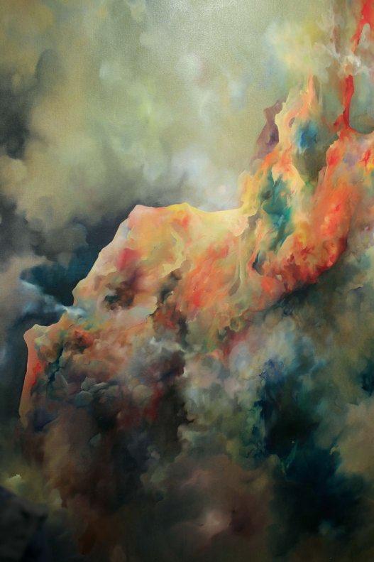Émilie Sévère, Figure, huile sur toile, 200 x 300 cm, 2013