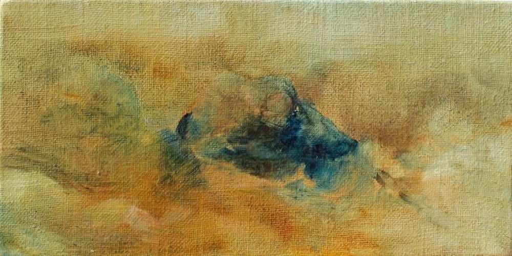 Émilie Sévère, Vue 2, huile sur toile, 40 x 20 cm, 2017