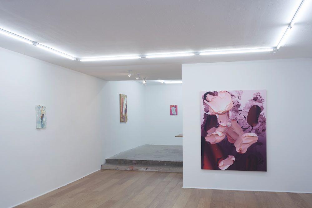 Vue de l'exposition A Hot Mess du 05 septembre au 17 octobre 2015, première exposition personnelle en France de l'artiste néo-zélandais André Hemer. © Galerie Fatiha Selam.