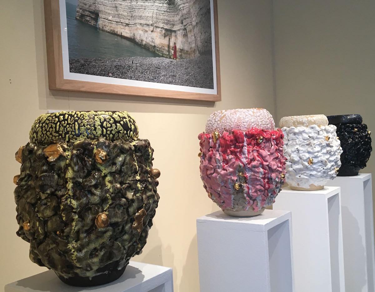 King Houndekpinkou, exposition personnelle De passage sur Terre, Galerie Vallois