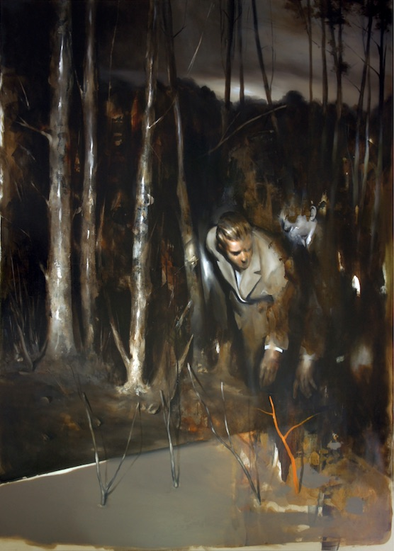 Radu Belcin, Fulfilled dreams at sunset, 2014, huile sur toile, 165 x 120 cm