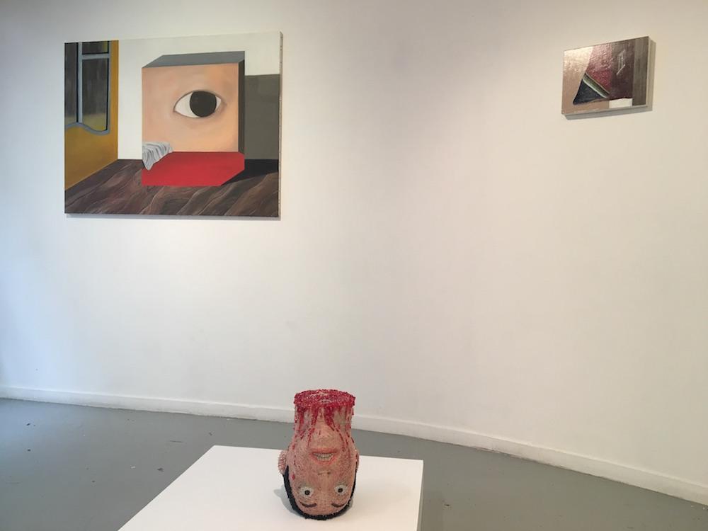 Vue d'exposition CONFRONTATION Haeji Lim et Kun Kang Galerie du CROUS Paris. Photo : Point contemporain
