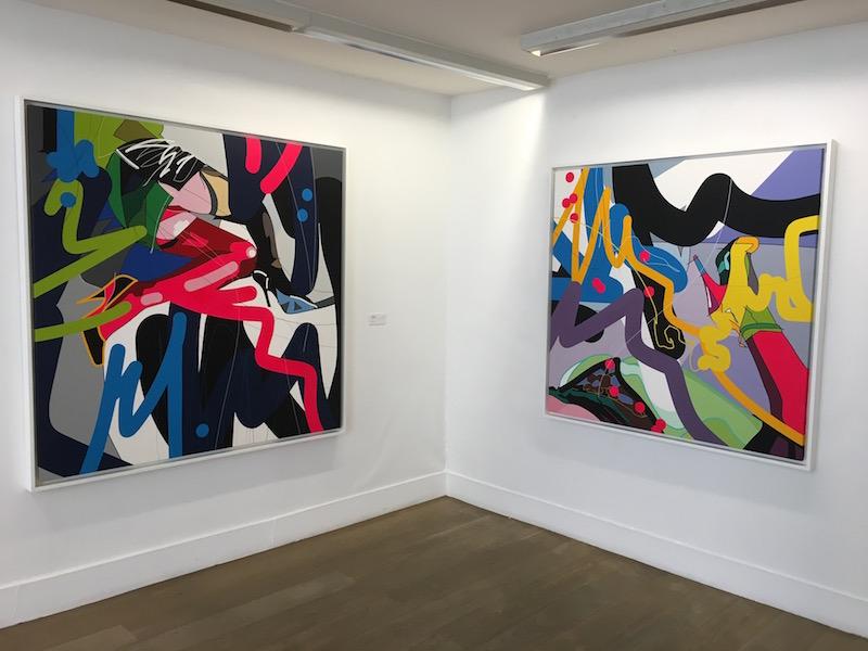 """Vue d'exposition """"Mon domicile conjugal"""" Galerie Rive-gauche Marcel Strouk"""