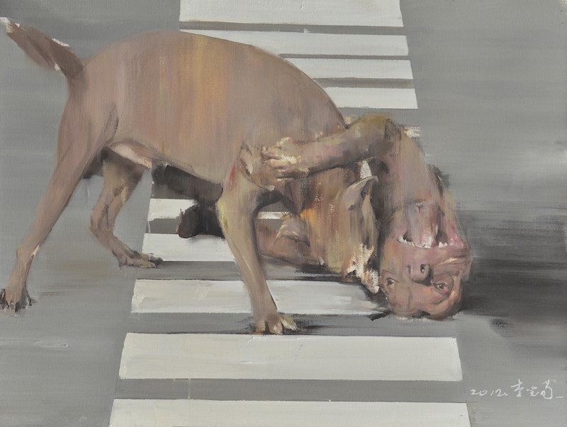 Li Baoxun 李宝荀 - Life is so so, 2012, oil on canvas, 120x90cm - 人生亦如此, 2012, 布面油画, 120x90cm