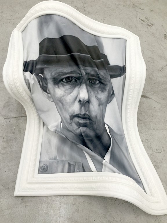 Shen Shaomin 沈少民 - Standard Portrait Joseph Beuys, 2016, oil on canvas and silica gel, 134x104cm