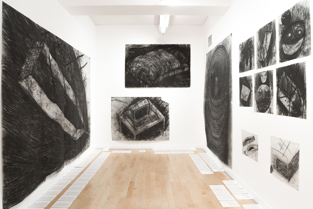 Miriam Cahn, installation, 15 works on paper, Benaki Museum - Pireos street Annexe Athènes Documenta 14. Photo Stathis Mamalakis.