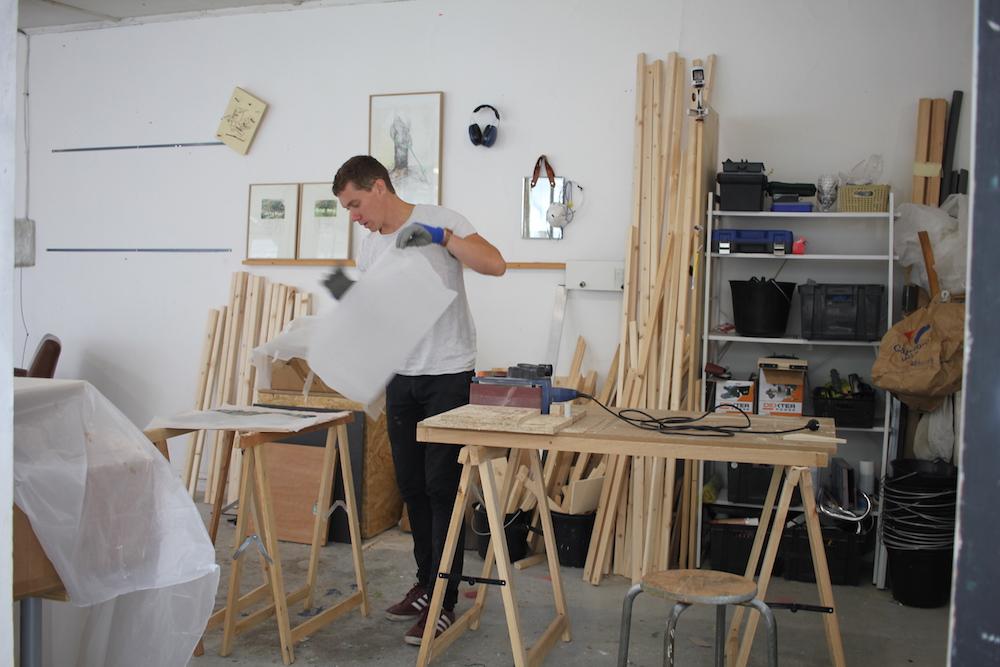 Vue de l'atelier de Thomas Wattebled