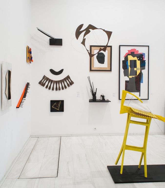 Vue de l'exposition Sculptura Emfatica, 2014.