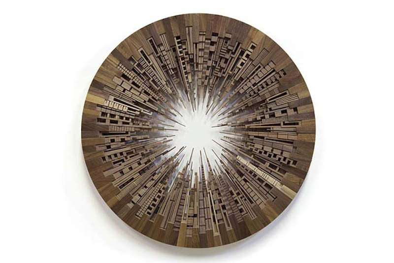 James McNabb, City Wheel double, 2016. American Black Walnut