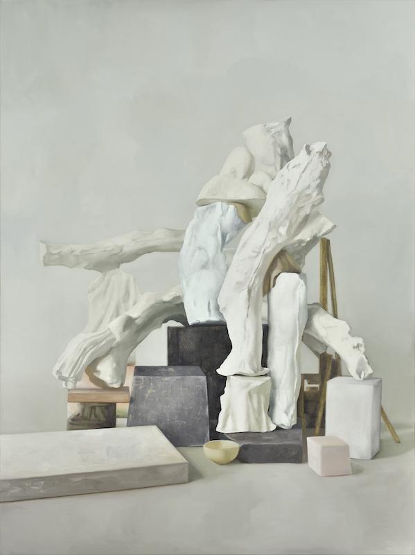 Maude Maris Monument, 2017. Huile sur toile, 120 x 90cm. Courtesy Galerie Isabelle Gounod