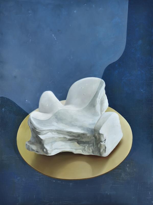 Maude Maris, La Tortue, 2017. Huile sur toile, 120 x 90cm. Courtesy Galerie Isabelle Gounod