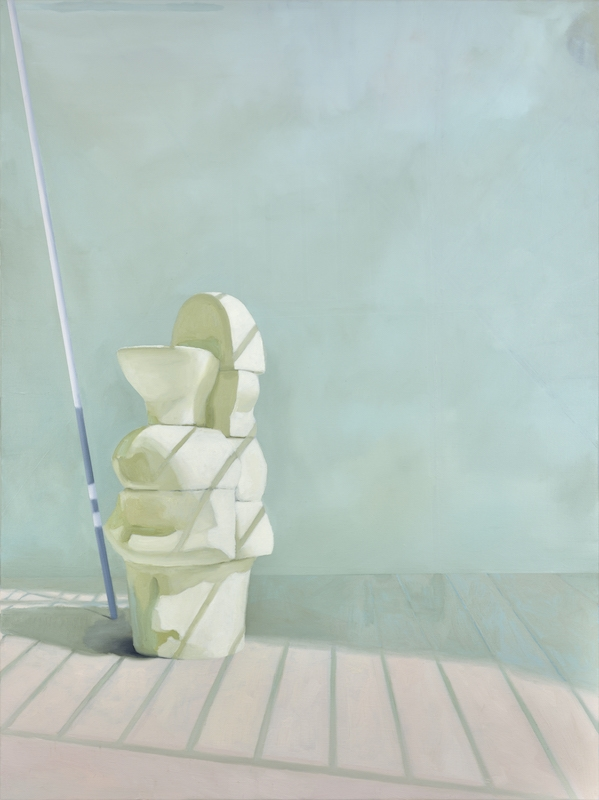 Maude Maris, Spindle, 2017. Huile sur toile, 120 x 90cm. Courtesy Galerie Isabelle Gounod