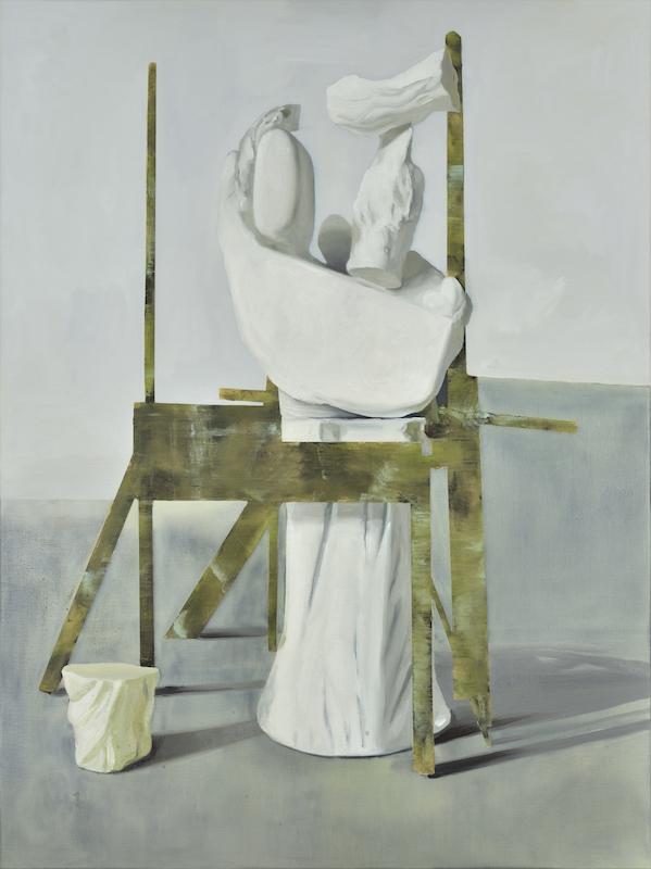 Maude Maris, Vierge, 2017. Huile sur toile, 120 x 90cm. Courtesy Galerie Isabelle Gounod