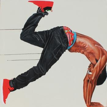 Fahamu Pecou, Miroirs de l'homme : une rétrospective, Tours Société Générale Paris