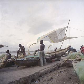 Denis Dailleux Le port de Saint James town « La voile », Ghana 2009 © Denis Dailleux - Courtesy Galerie 127