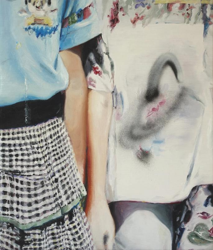 Mireille Blenc Fleurs Waïkiki, 2015. Huile sur toile, 60 x 70 cm. Courtesy de l'artiste.
