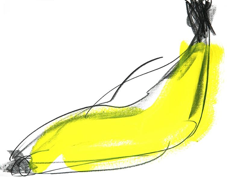Jean-François Boclé Bipolar bananas 2017 - Oeuvre sur papier - 31 x 22 cm Courtesy Maëlle Galerie