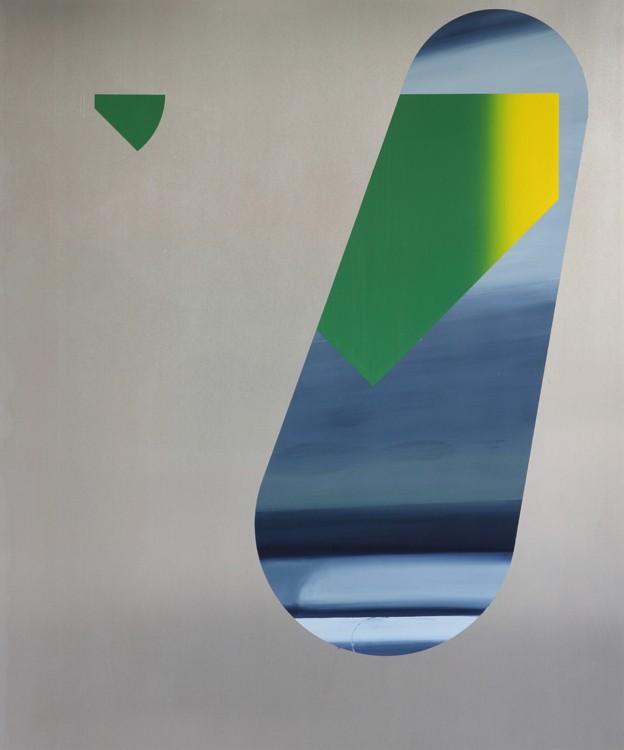 Benoît Géhanne, recul #2, 2015. 120 x 100 cm, huile sur aluminium. Courtesy artiste.