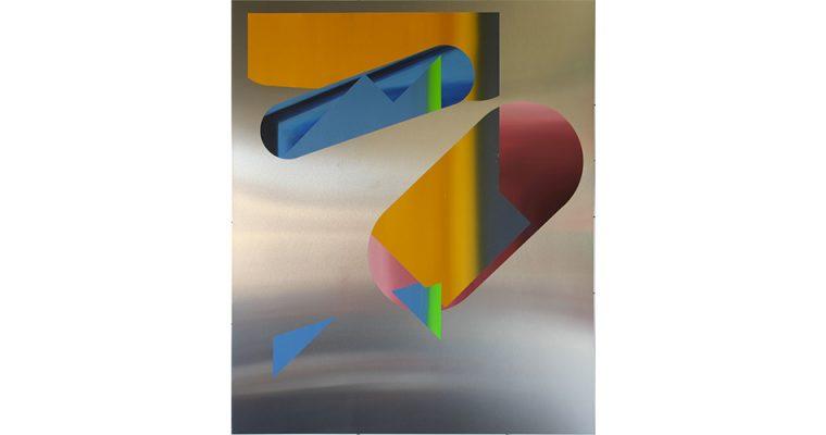Benoît Géhanne, Recul #08, 2016. Huile sur aluminium, 120 x 100 cm. Courtesy artiste.