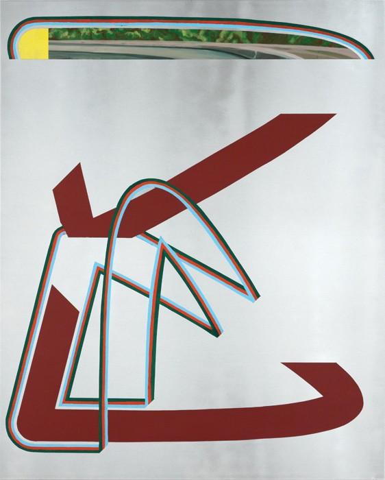 Benoît Géhanne, retenue #2, 2017. 100 x 80 cm, huile sur aluminium. Courtesy artiste.