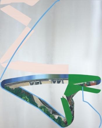 Benoît Géhanne, retenue #5, 2017. 100 x 80 cm, huile sur aluminium. Courtesy artiste.