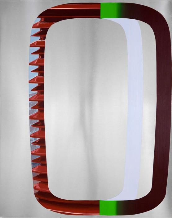 Benoît Géhanne, retenue #7, 2017. 100 x 80 cm, huile sur aluminium. Courtesy artiste.