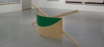 Benoît Géhanne, vue de l'exposition vendange tardive 2017, CAC Meymac, Flèche barrage. Courtesy artiste.