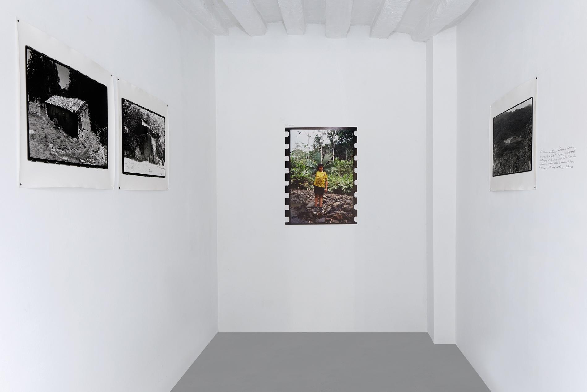 Vue de l'exposition personnelle de Marcos Avila Forero, Les Choses qui échappent, Galerie Dohyang Lee. Courtesy Galerie Dohyang Lee Photo © Aurélien Mole