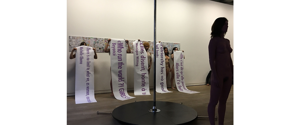 Sarah Trouche, I can not be silent – A feminist vertical strike, Fondation d'entreprise Ricard Paris [VIDÉO]