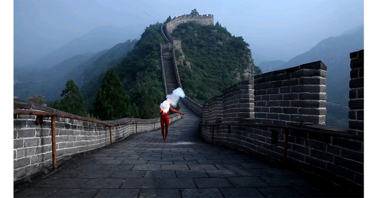 Sarah Trouche, Action for great wall, Chine, 2011.