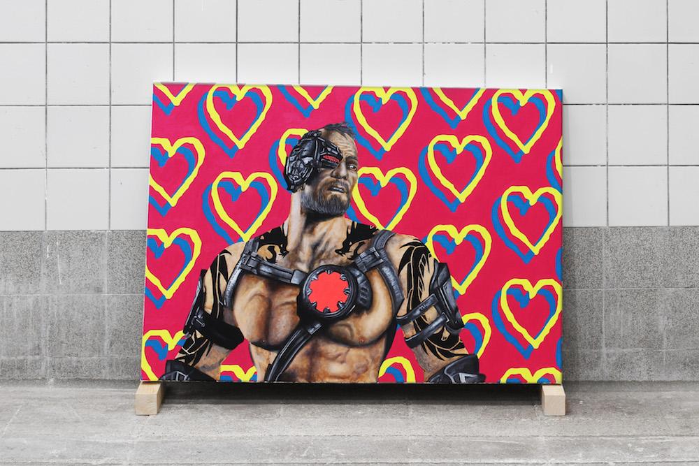 Vue de l'exposition personnelle de Yannick Lambelet, POST-APOCALYPTIC HOLIDAYS, Quartier Général La  Chaux-de-Fonds. Photo Nathan Lopez.
