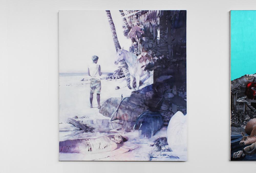 Michael Rampa - Vue de l'exposition personnelle de Yannick Lambelet, Quartier Général La  Chaux-de-Fonds. Photo Nathan Lopez.